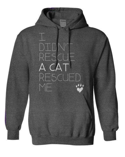 Cat Rescued Me Hoodie