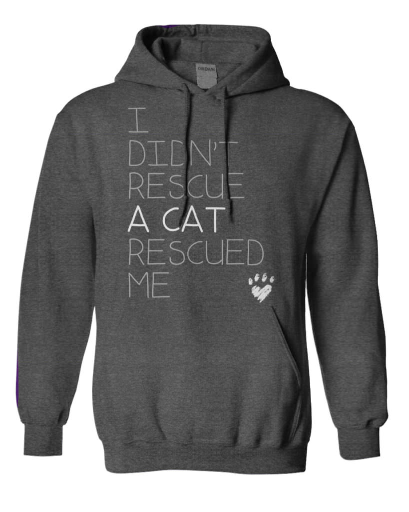 Cat Rescued Me Hoodie