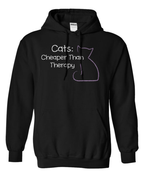 Cats: Cheaper Than Therapy Hoodie 1