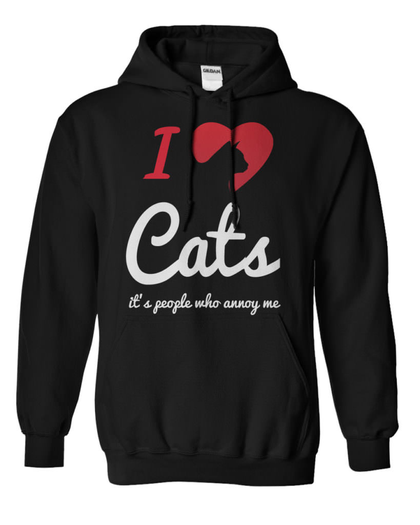 I Love Cats It's People Who Annoy Me Hoodie
