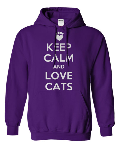 Keep Calm and Love Cats Hoodie 1
