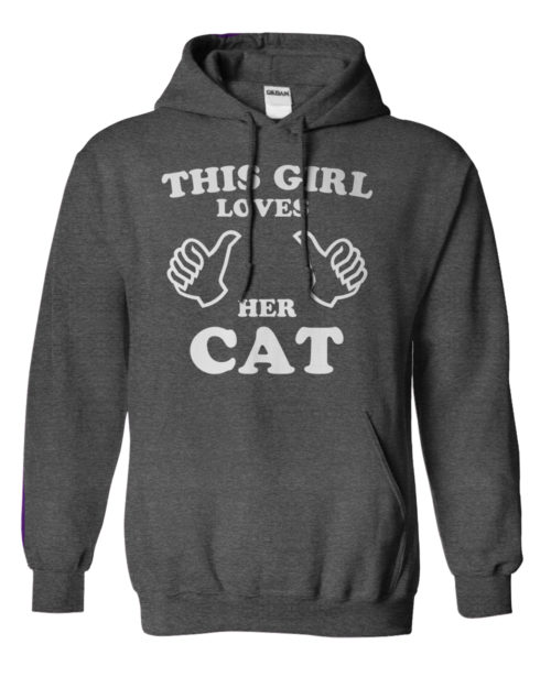 This Girl Loves Her Cat Hoodie 1