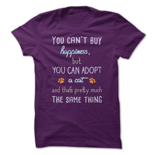 YouCan'tBuyHappinessCatVersion-Purple