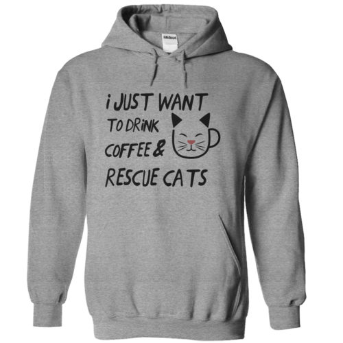 Coffee And Rescue Cats – Light Version Hoodie