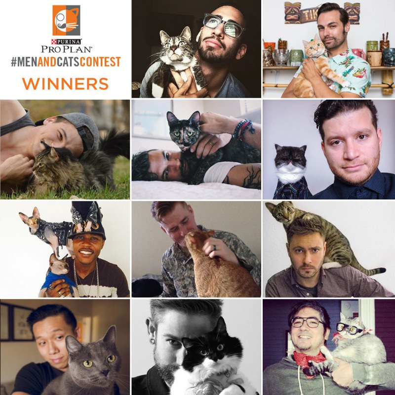 Purina Pro Plan(R) Announces Winners Of Men And Cats Photo Contest (PRNewsFoto/Purina Pro Plan)