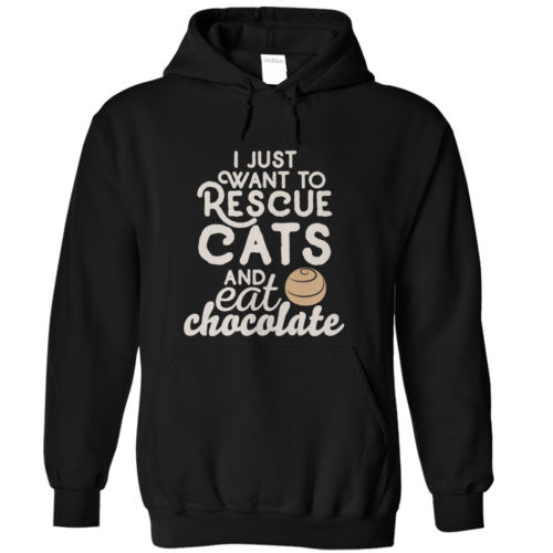 Eat Chocolate & Rescue Cats Hoodie