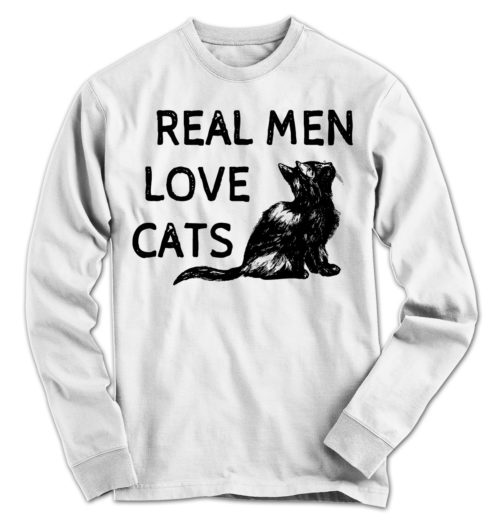 Real Men Love Cats Long Sleeve