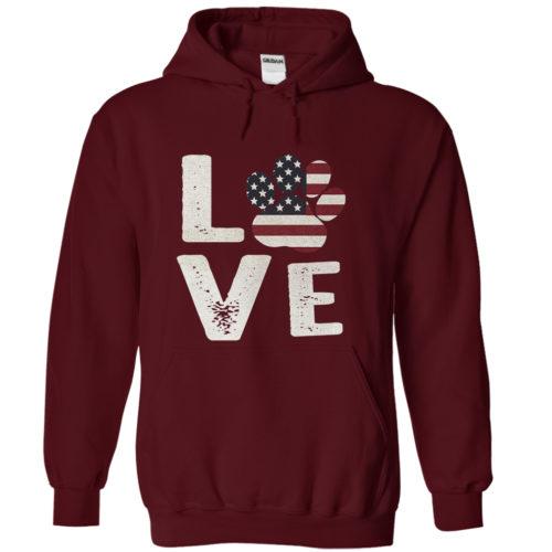 Love Paw USA Hoodie