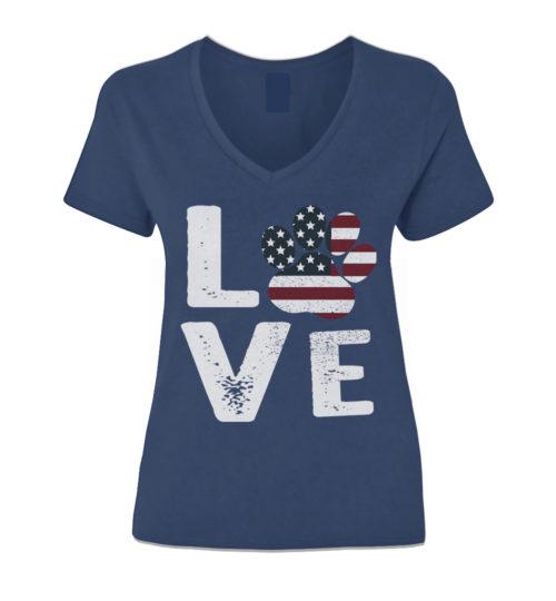 Love Paw USA V-Neck