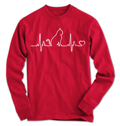 Cat Heartbeat Long Sleeve