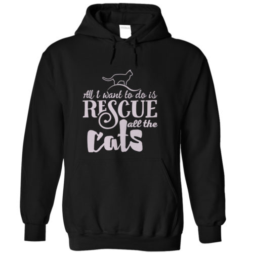Rescue All The Cats Hoodie