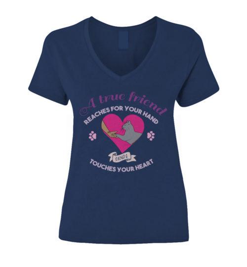 A-true-friend-(Cat-Shirt)-Navy