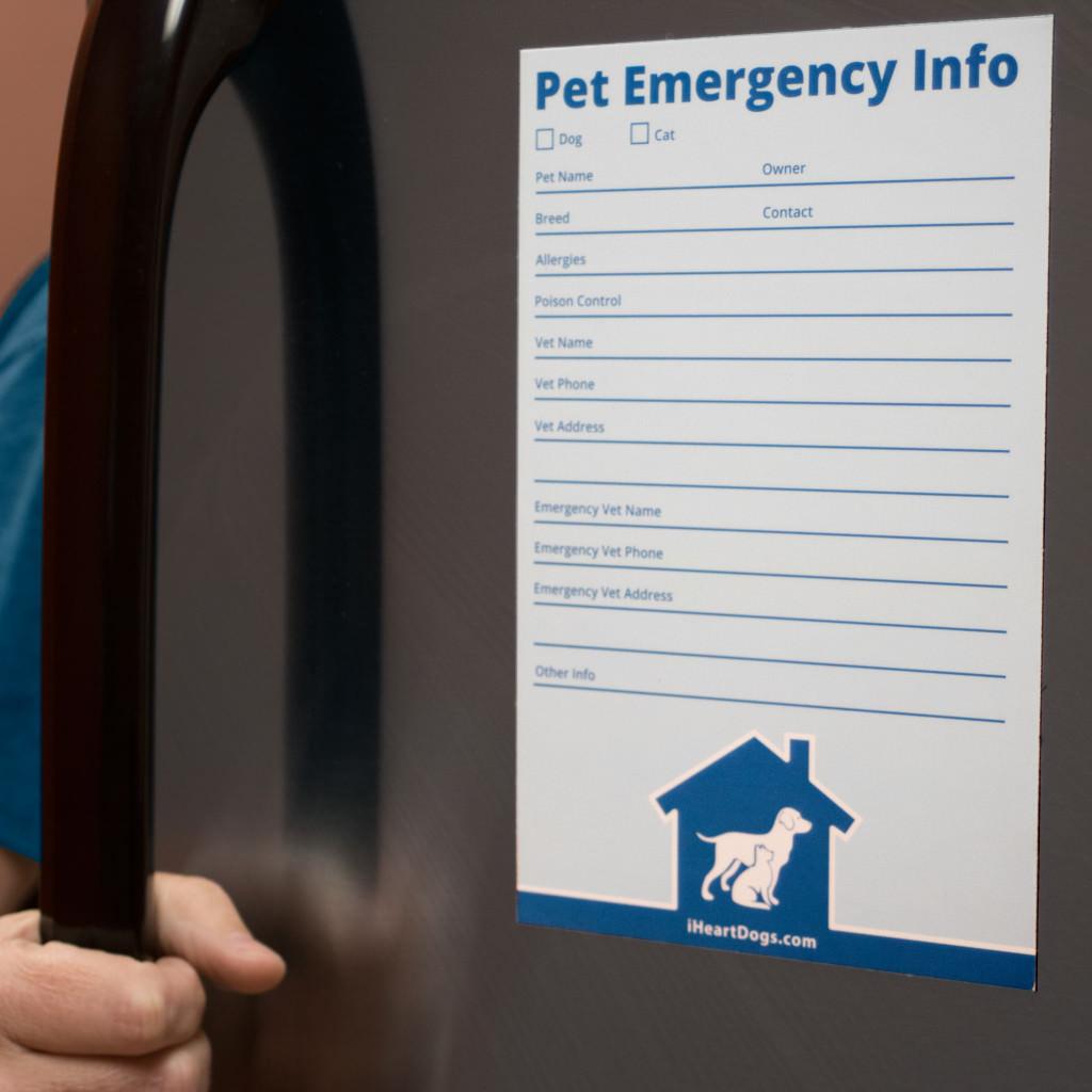 iHeartCats Pet Emergency Info Magnet