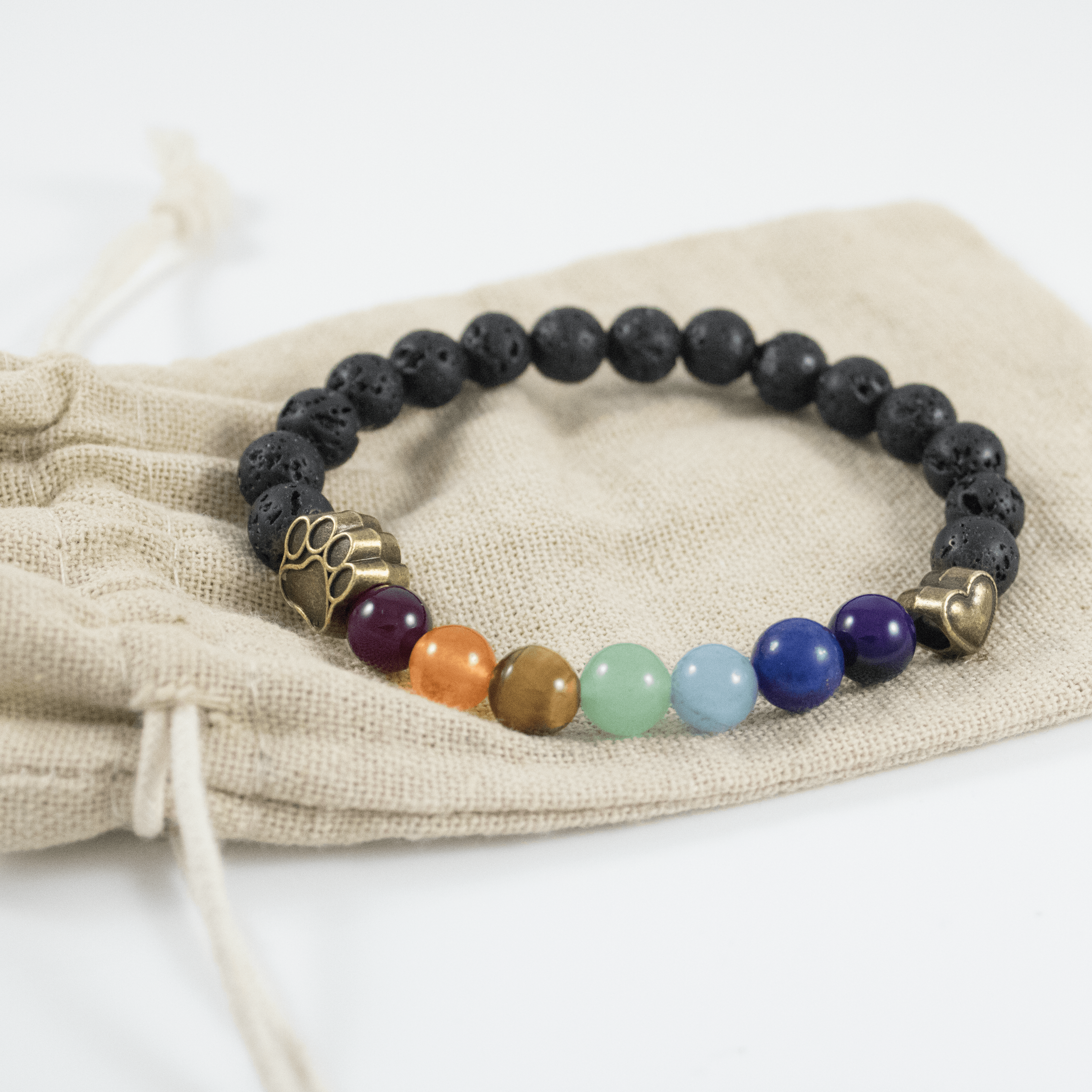 1d513a02d Lava Bead Rainbow Bridge Bracelet: Feeds 7 Shelter Cats In Loving Memory of  Your Cat