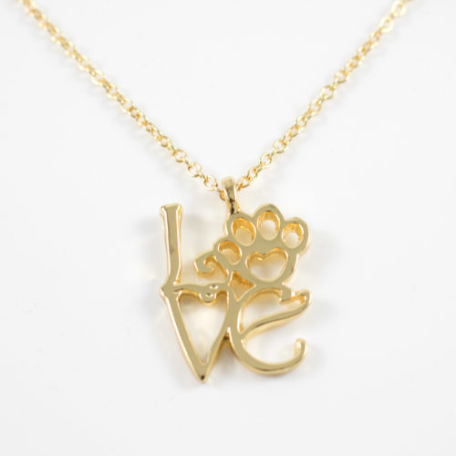 Love Paw Gold Necklace