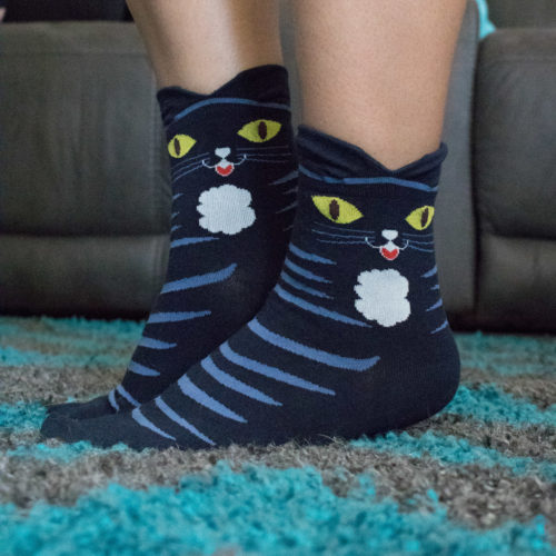 Navy Blue Cat Ears Socks