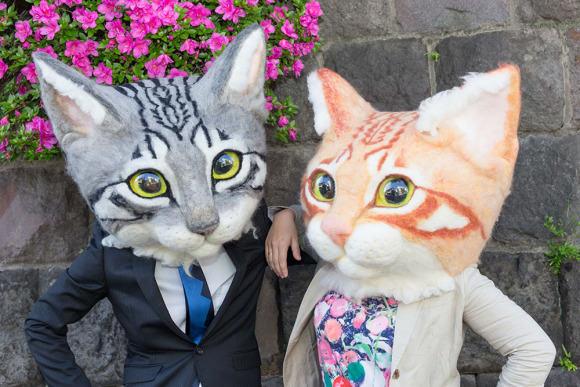 Ultra Real Giant Cat Heads Turn You Into Human Feline Hybrid
