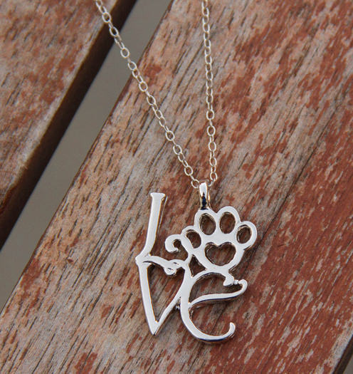 Love Paw Silver Necklace