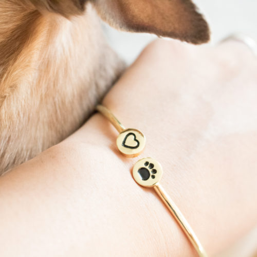 My Cat is Close To My Heart Adjustable Bangle Bracelet