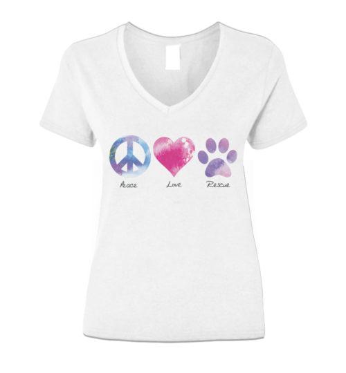 Peace Love Rescue V-Neck