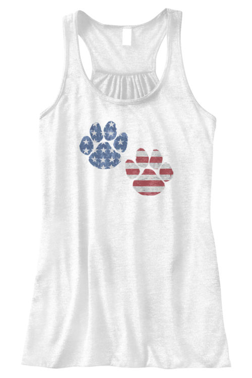 Flag Paws USA Bella Fashion Tank