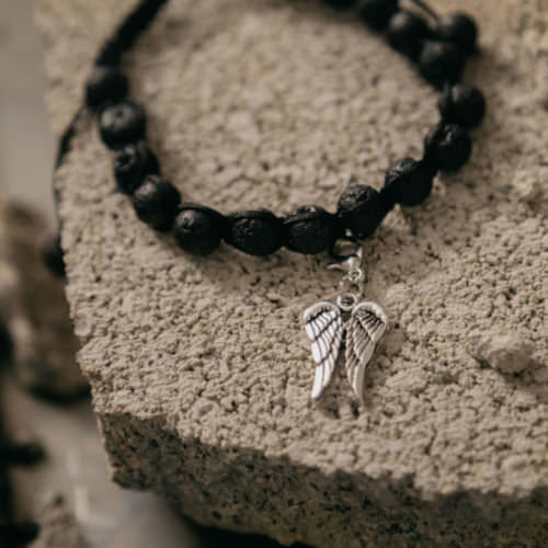 Second Chance Movement™ Lava Bead Wings Charm Bracelet – The Wings To Give Shelter Pets a Second Chance At Life