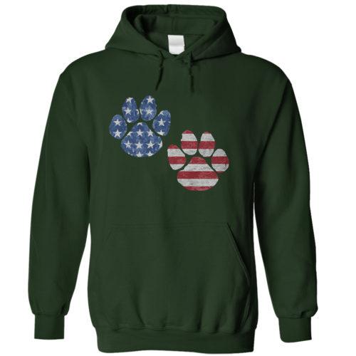 Flag Paws USA Hoodie