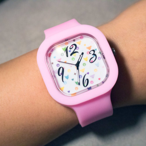Interchangeable Silicone Watch Color Pattern design with 3 color bands