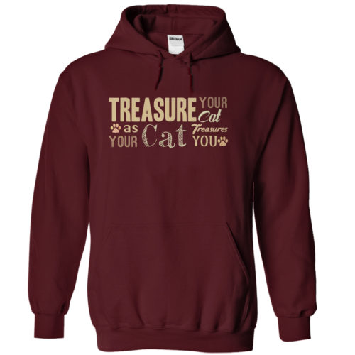 hoodies-treasure-your-cat-maroon