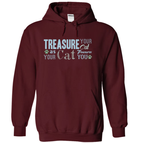 hoodies-treasure-your-dog-maroon