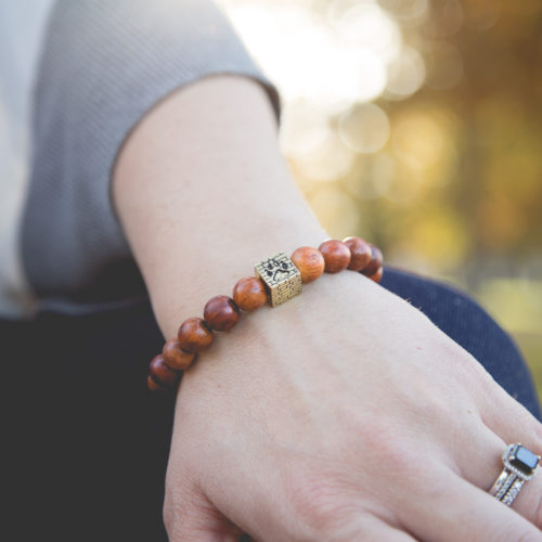 Red Rosewood Bracelet: Each Purchase Helps Rebuild an Animal Shelter