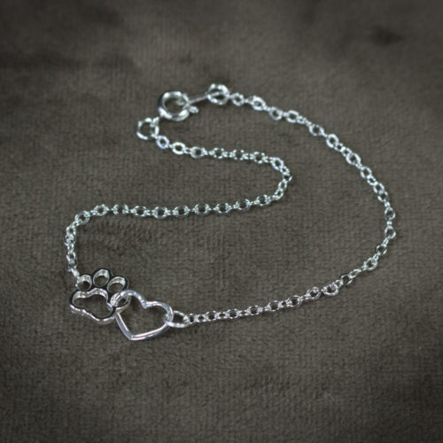 Forever Connected Heart Paw Bracelet
