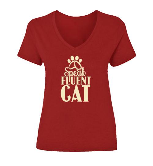 I Speak Fluent Cat V-Neck