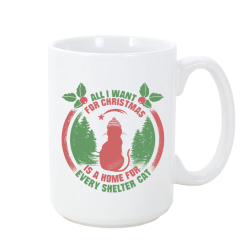 Christmas Wish A Home for Every Shelter Cat Mug