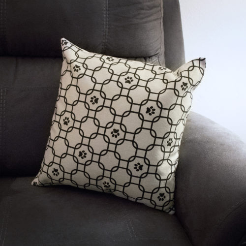 Geometric Paw Pillowcase
