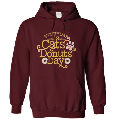 Everyday Is Cats And Donuts Day Hoodie