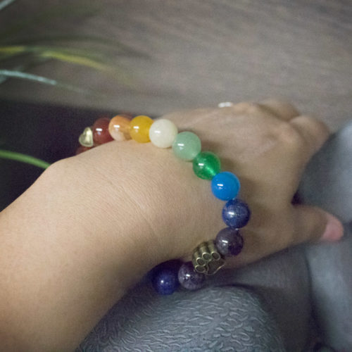 Eternal Rainbow Memorial Bead Bracelet