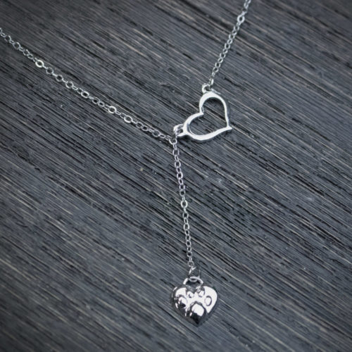 Always Close To My Heart Paw Print Necklace