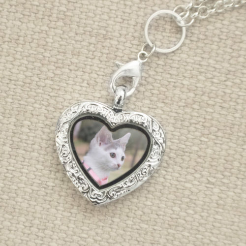 Furever™ Delicate Scroll Locket: Donates 10 Meals To Shelter Cats