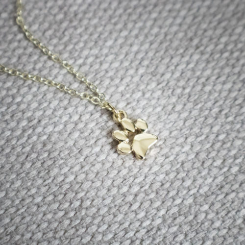 Petite Paw Charm Necklace