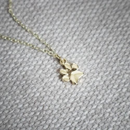Petite Paw Charm Necklace