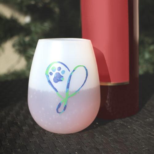 Shatterproof Elegant Heart Silicone Wine Cups (set of 2)
