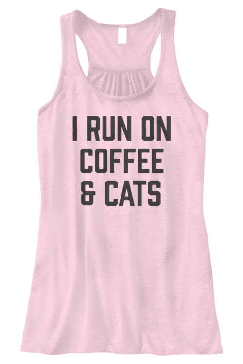 I Run On Coffee Bella Fashion Tank