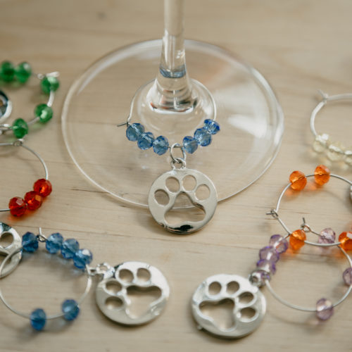 Wine Glass Paw Charm