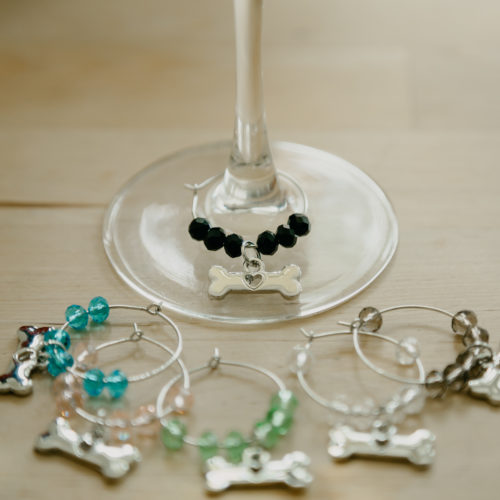 Wine Glass Bone Charm