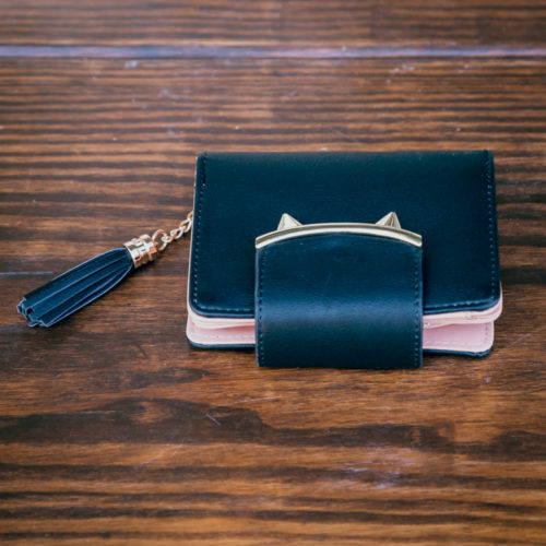 Kitty Ears Wallet-Black