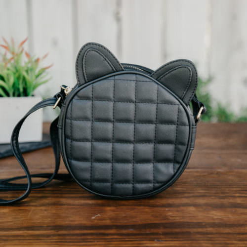 Quilted Round Bag With Ears