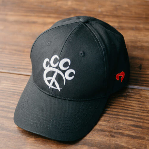 Peace Paw Embroidered Canvas Hat