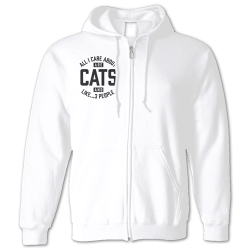 Cats And 3 People Zip Hoodie
