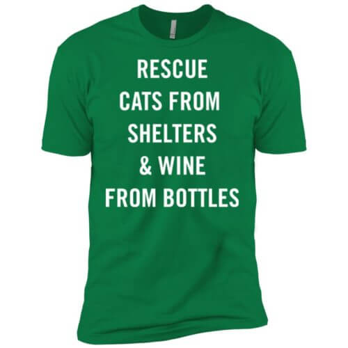 Rescue Cats From Shelters Premium T-Shirt